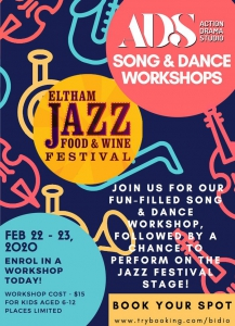 Musical Theatre Workshops at Eltham Jazz Festival
